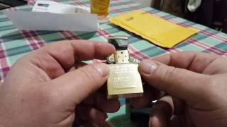 Zippo Venetian High Polish Brass 352B New - Unboxing