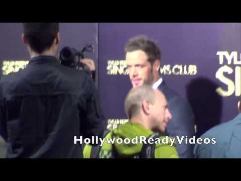 William Levy arrives at The Single Moms Club premiere at Arclight Cinerama Dome in Hollywood
