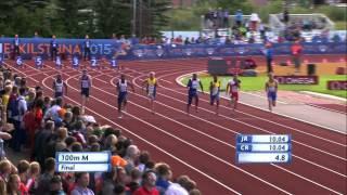 Ojie Edoburun's 10.36 100m gold Eskilstuna 2015