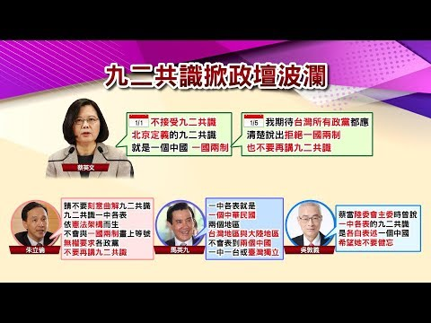 台灣-國民大會-20190108 九二共識是一國兩制? 習近平梭哈促統 助攻蔡英文聲勢?