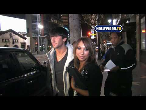 Cheryl Burke And Evan Lysacek At Katsuya Video