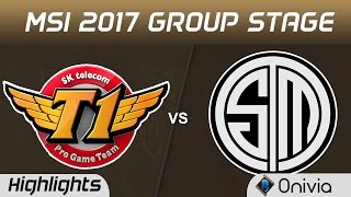 SKT vs TSM Highlights MSI 2017 Group Stage SK Telecom T1 vs Team Solo Mid by Onivia