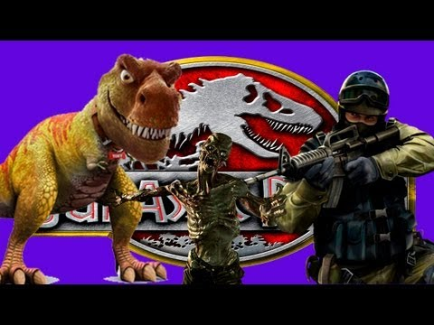 Jurassic Park no Zombie Escape do Counter Strike Source?