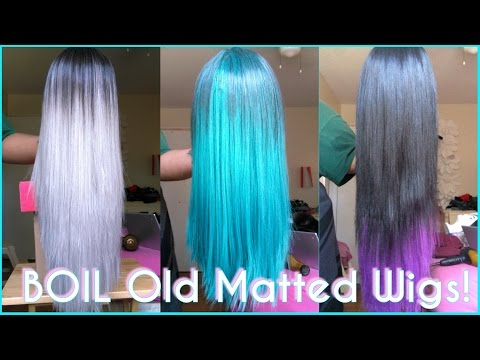 How To: BOIL Your Wigs?   Revamp Old Matted Synthetic Wigs   Make Straight Wigs Last FOREVER