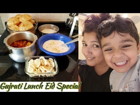 Most Popular Gujarati Food Puri Shak / Lunch Routine #KhushbuVlogs