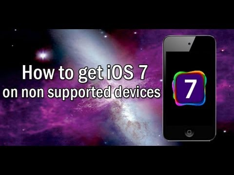 How to get iOS 7 features on iPod 4g and iPhone3gs P.1