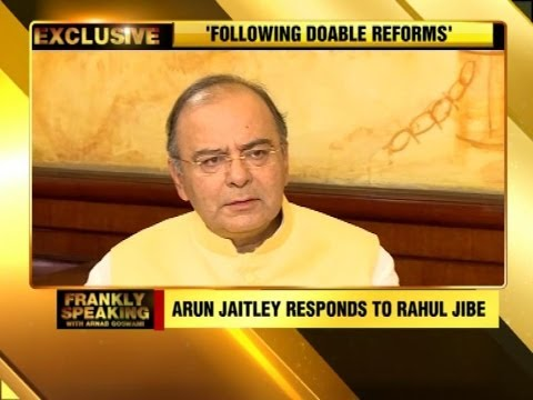 Frankly Speaking with Arun Jaitley - Part 1 - TTN Exclusive Interview