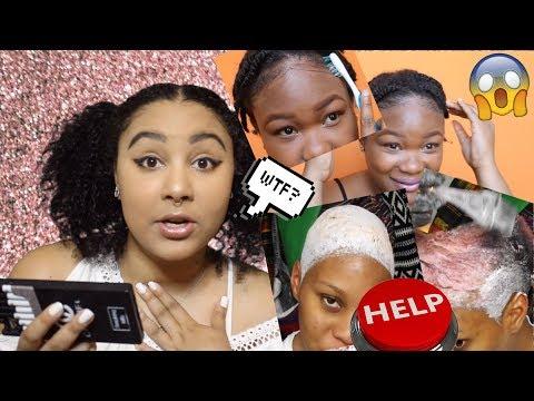 NATURAL GIRL REACTS TO NATURAL HAIR FAIL #4