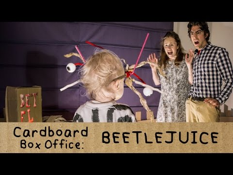 The Cutest Family Recreates a Scene from Beetlejuice Using Cardboard