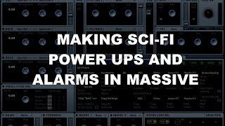 Video Game Sound Design Tutorial - Sci Fi Power Up Sounds in Massive