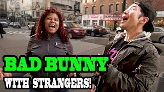 Download Lagu Singing BAD BUNNY with Strangers!!! - SINGING IN PUBLIC (Trivia Challenge) Gratis STAFABAND