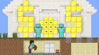Minecraft Noob vs Pro : SECURE BANK ROBBERY Challenge in Minecraft Animation