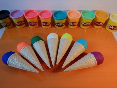Play doh Magic ice cream,kinder surprise,Hello Kitty,Plasticine, Plastilina, Plastiline, مادة لدائني