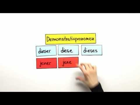 Demonstrativpronomen: dieser, diese, dieses und jener, jene, jenes    Deutsch   Grammatik thumbnail