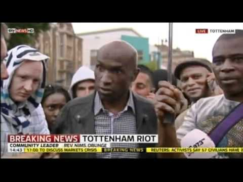 London Riot 2011. Mark Duggan family friend and Reverend talk about riot and police