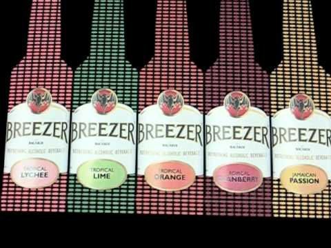 Bacardi Breezer sound activated EL Poster India
