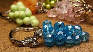 Sencillo y Practico Llavero de Cristales...Clase #88!!!