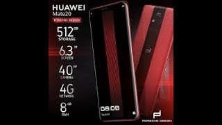 Huawei Mate 20 RS Porsche Design - 40 MP+ 20 MP + 8 MP Camera - 8 GB - Full Specification