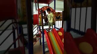 Play area with kean and kurtney | slide all the way down