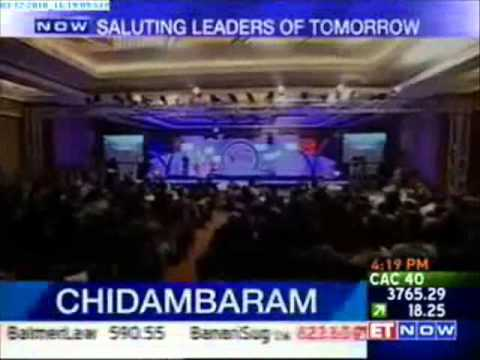 Speech by Hon'ble Home Minister P. Chidambaram - Indiamart Leaders of Tomorrow Award 2010