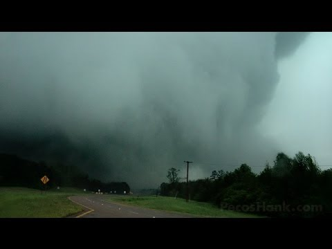 MASSIVE MISSISSIPPI TORNADO - Raining House Debris & Tossed Cars