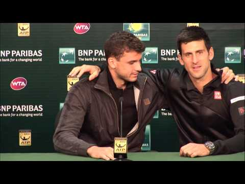 BNP Paribas Open: Novak Djokovic Crashes Grigor Dimitrov Press Conference