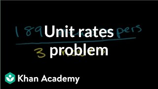 Solving unit rates problem | Ratios, proportions, units, and rates | Pre-Algebra | Khan Academy