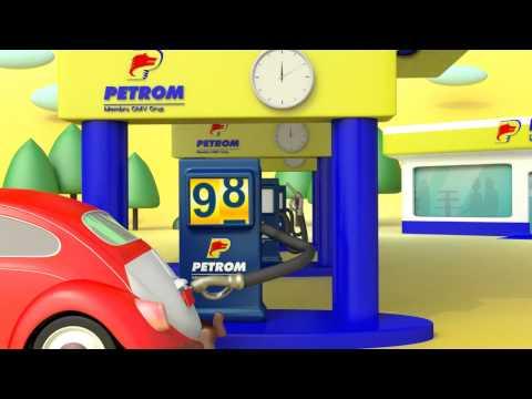 Petrom gas station advertising 1