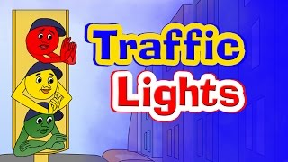 Stop Says The Red Light Rhyme - English Rhymes For Children, English Kids Songs, Poems For Kids