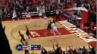 Jay Lewis Drains a 3 on NCSU Senior Night vs. WFU (3/6/12)