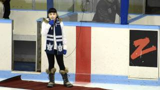 10 Year Old Sierra Rayman sings Star Spangled Banner and O Canada