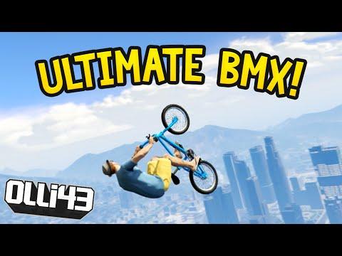 ULTIMATE BMX SKY JUMP : GTA 5 Funny Moments Olli43 vs Geo23