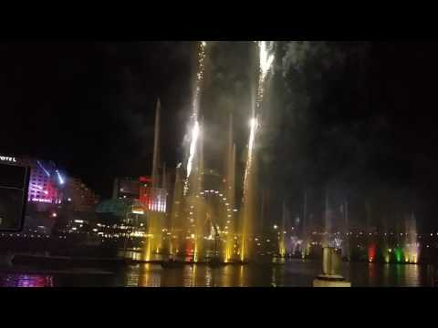 VIVID 2016 - Darling Harbour Laser Dragon Water Show With Fireworks