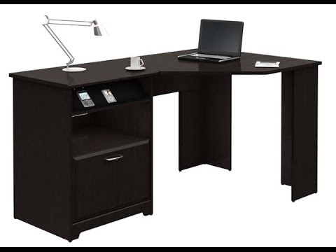 BUSH FURNITURE Cabot Collection: 60 inch Corner Computer Desk, Espresso Oak