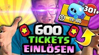 600 Tickets Umwandeln in MASSIV viele TRUHEN   Brawl Stars Tips Deutsch