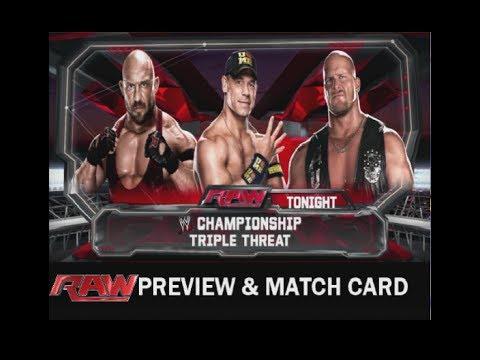 Match Wwe Raw Wwe Raw:preview Match Card