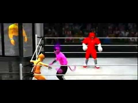 WWE2K14: Team Sonic(Sonic, Knuckles, and Tails) Vs. Team Zavok (Zavok, Zazz, and Zomom)