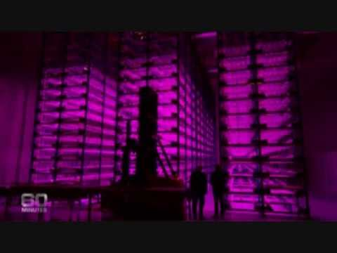 Vertical Farms in Multi-Level Controlled-Environment Greenhouses using Hydroponics & Red/Blue LED's