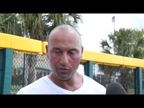 Derek Jeter at Turn2 Baseball Clinic in Tampa