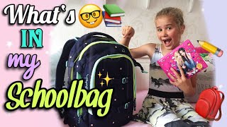 What's in my SCHOOLBAG ? 🎒📚 + VERLOSUNG 💖 Satch Schulrucksack | magic marie