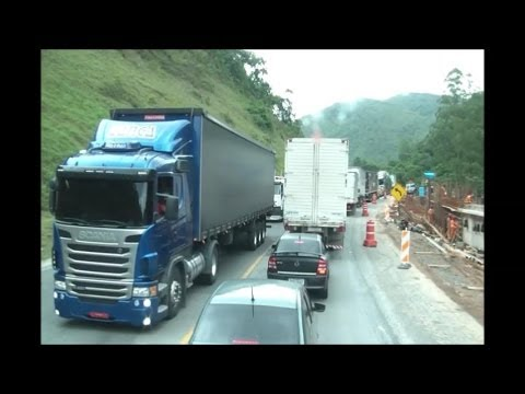 Congestionamento na Serra do 90 / Cafezal - BR 116 (na íntegra)