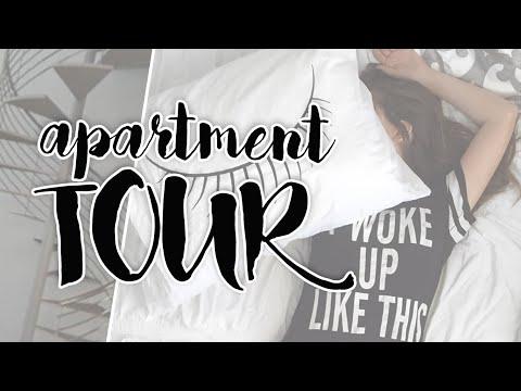 COLLEGE APARTMENT + ROOM TOUR! | Caitlin Bea