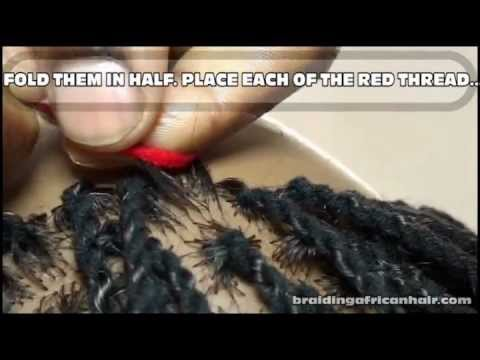 How To Do A Hair Twist With String. African Two String Twist