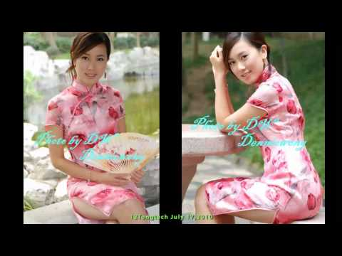 Chinese Qipao 11 with 12 Girls Band Music Tang Court Ensemble Video