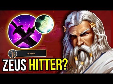 ZEUS HITTER? - WTF Zeus Carry Build Sange Yasha New Meta 7.09 Dota 2 | Upside Down 57
