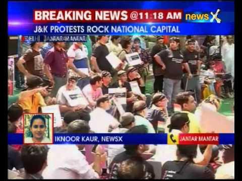 Kashmiri Pandits protest at Jantar Mantar over rehabilitation in Valley