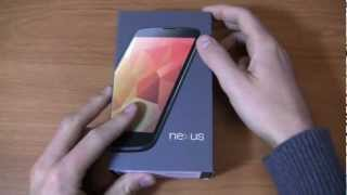 Google Nexus 4 Unboxing