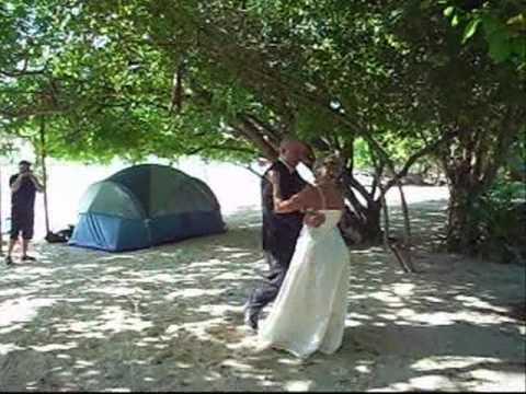 Romantic Wedding on a tropical island of the coast of Phuket, Thailand