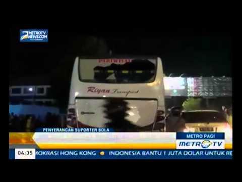 Rusuh! Bus Supporter PSCS Cilacap Diserang BCS BRIGATA CURVA SUD Supporter PSS Sleman