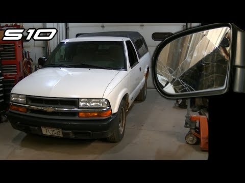 S10 Sonoma Side Mirror Replacement Door Panel with Manual Windows